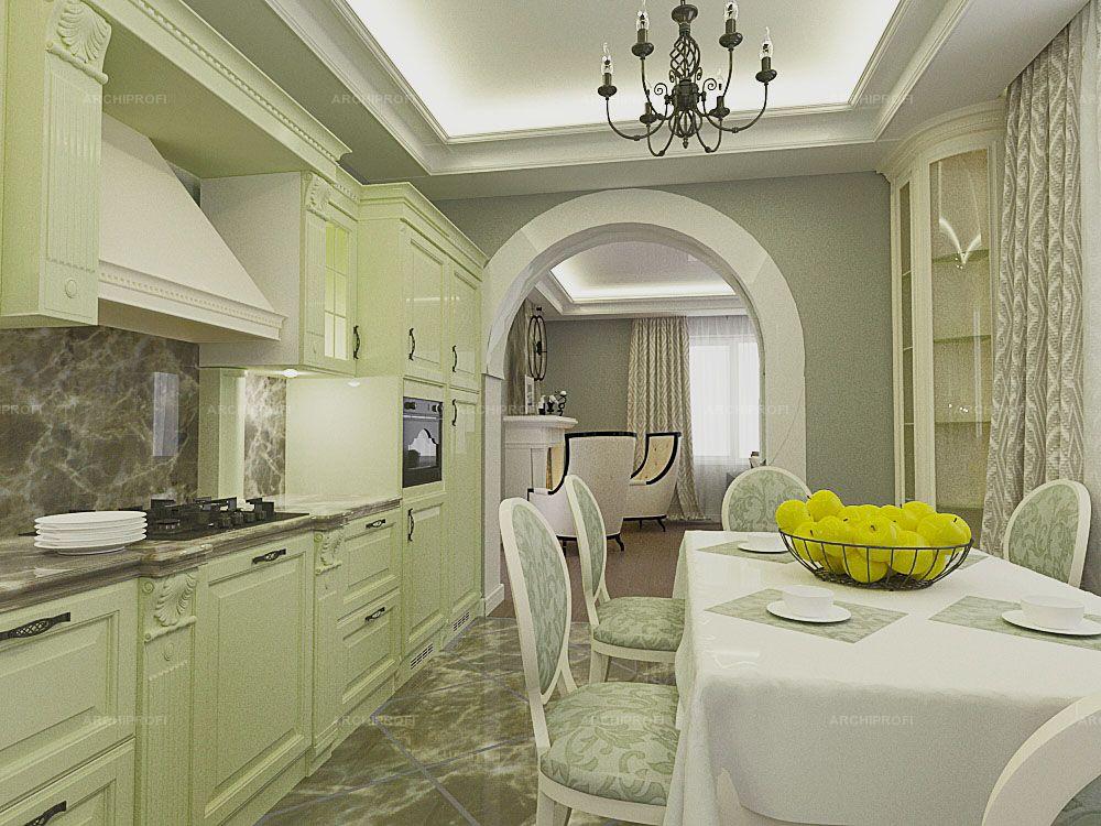 Интерьер кухня в пастельных тонах фото