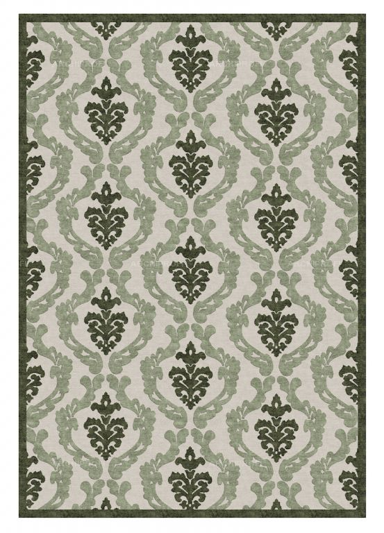 Предметы Фото Damask Olive New Rug Collection Ковер Классицизм New Rug