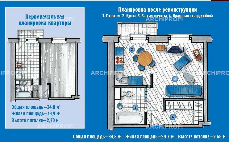 Типовой проект объединения балкона с кухней.