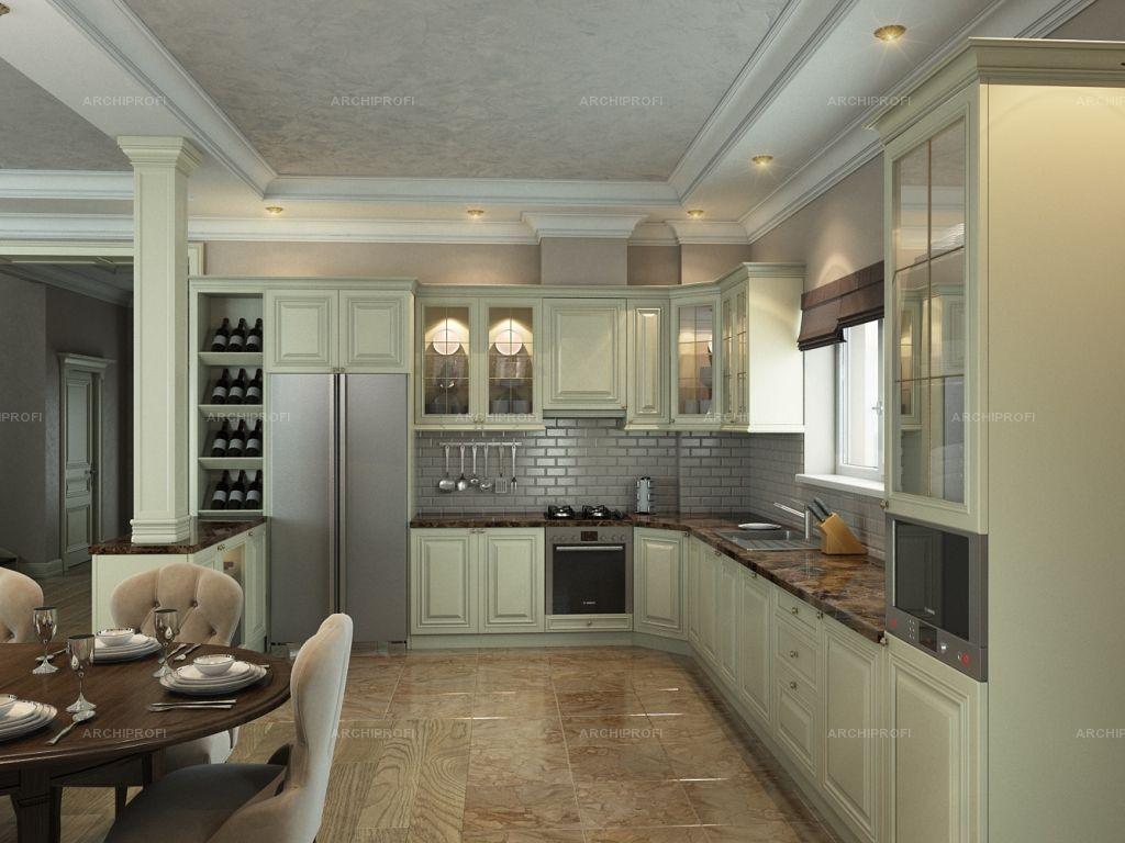 Дизайн кухни 30 кв.м в частном доме