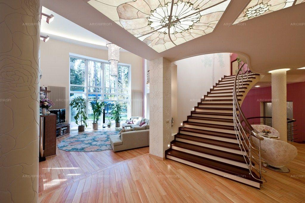 Фото лестниц на второй этаж в частном доме 1 фотография