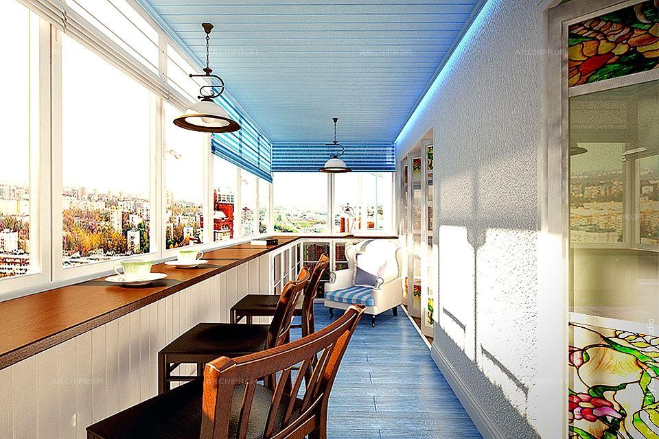Интерьер 3d балкон дизайн-проект трехуровневой квартиры в са.
