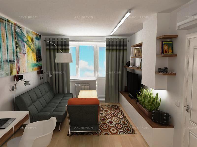 Фото дизайн зала 18 кв.м бюджетный вариант