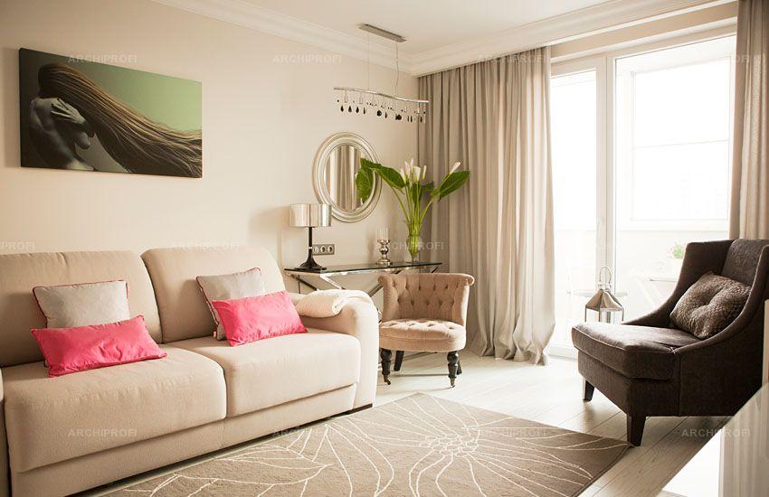 Дизайн типовой квартиры в светлых тонах