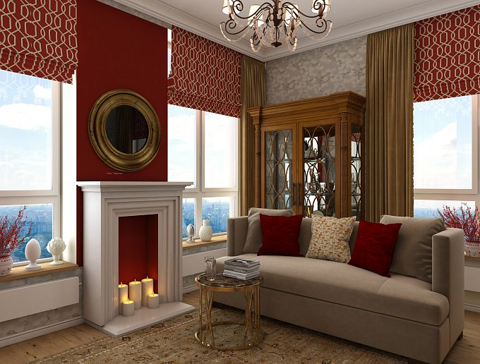 Red berry-Living room