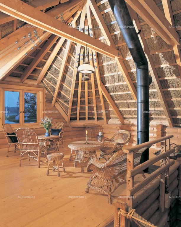Дизайн крыши внутри