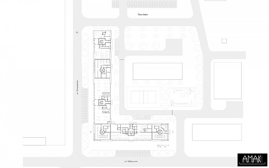 Ген.план совмещенным первым этажом