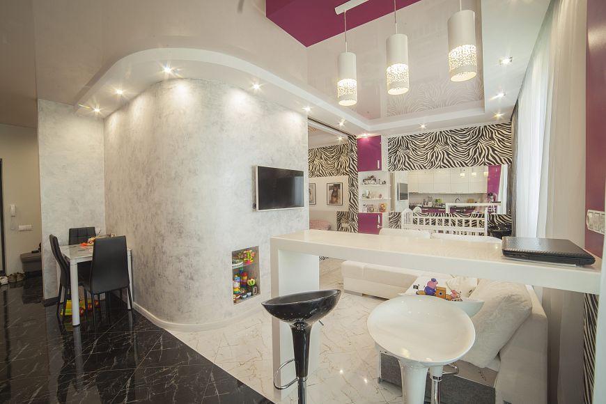 Проект дизайн интерьера 1 комнатной квартиры в Москве