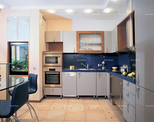 Дизайн кухни духовка наверху