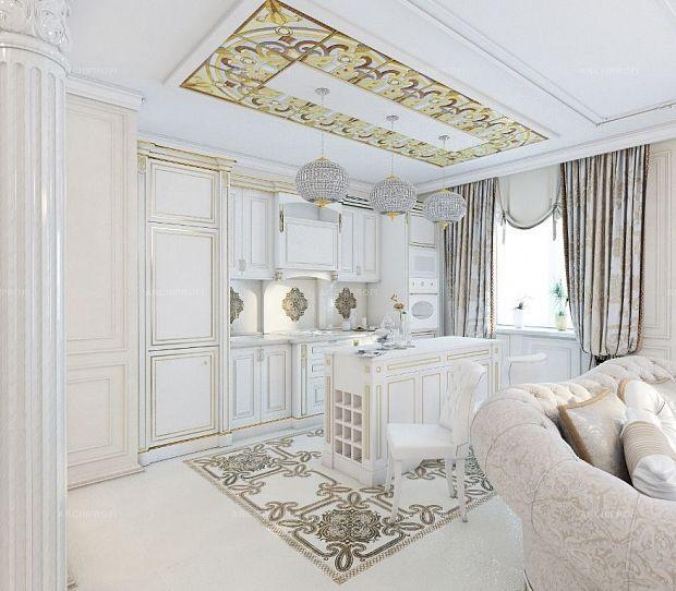 классический интерьер квартиры в светлых тонах розетки, выключатели